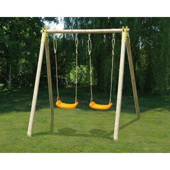 ALFY drveno igralište s 2 ljuljačke 1,90 m