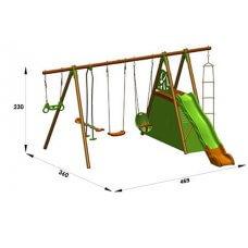 LEGATO Dječje igralište drvo-metal 2,30 m
