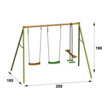 VALWE Dječje igralište/ljuljačka metal 1,90 m