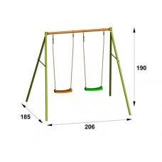 OLWE Dječje igralište/ljuljačka metal 1,90 m