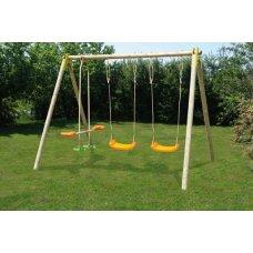 CHOUPY drveno igralište s 3 igračke 1,90 m