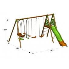 HELIO Dječje igralište drvo-metal 2,30 m
