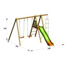 XALTO Dječje igralište drvo-metal 2,30 m