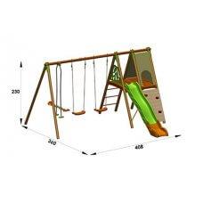 APPOLO Dječje igralište drvo-metal 2,30 m