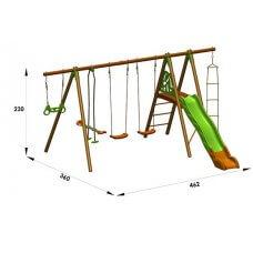 OCTAVO Dječje igralište drvo-metal 2,30 m